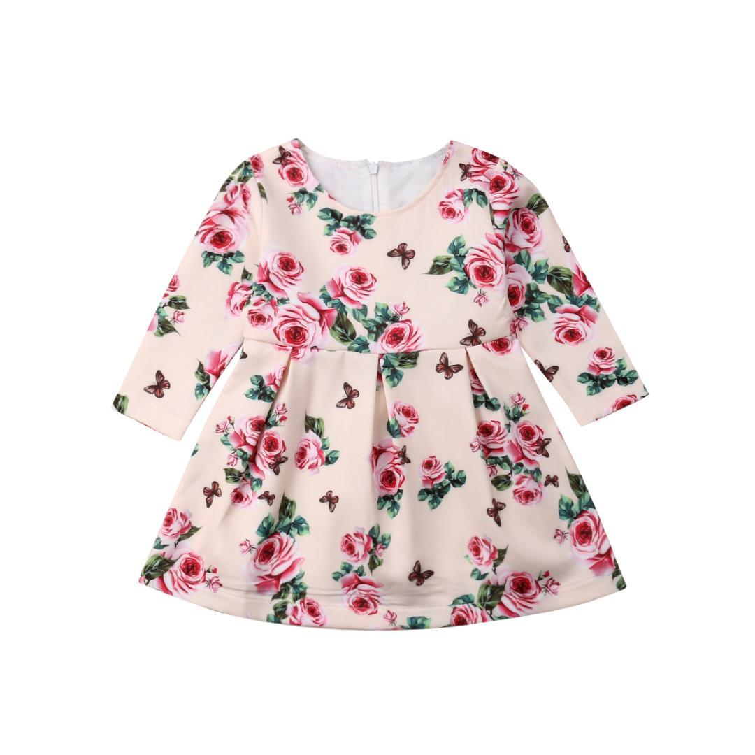239413e18422 2019 Hot Sale Toddler Baby Girls Flower Casual Party Princess Dress  Sundress Clothes From Toyshome, $41.02 | DHgate.Com