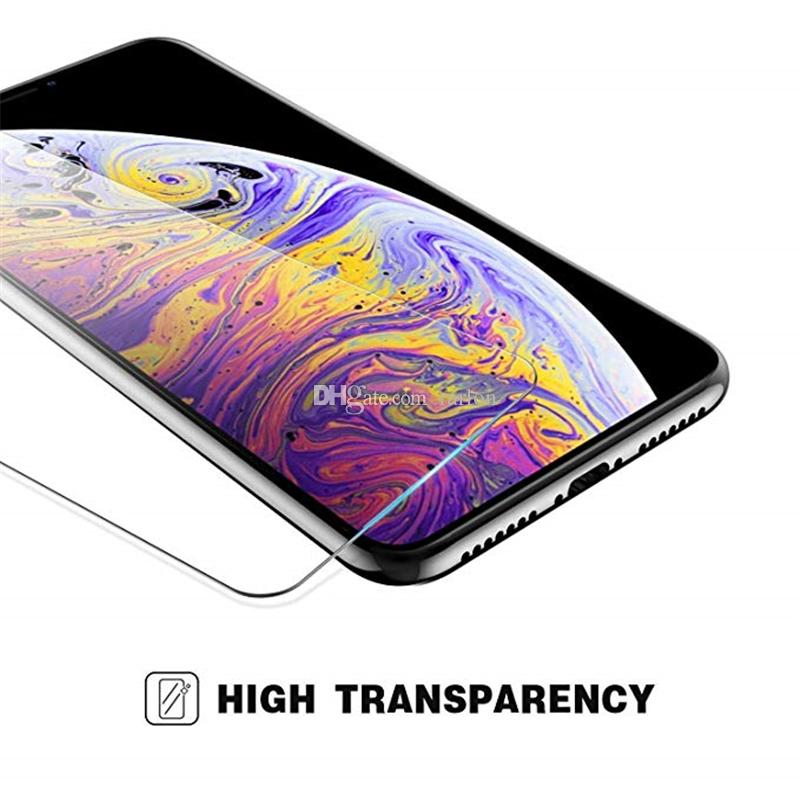 Tempered Glass Screen Protector For iPhone 12 Pro Max Samsung Galaxy A52 A72 A32 A02S A12 S21 FE 11 XR XS X 8 7 Plus Edition Film 9H Anti shatter