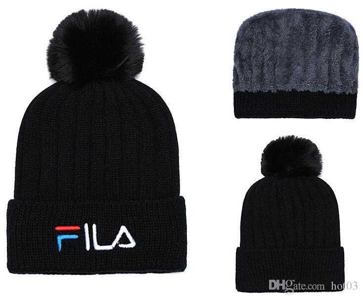 5cb77fe3420 Hot Fashion Unisex Spring Winter Hats For Men Women Knitted Beanie Wool Hat  Man Knit Bonnet LA Beanie Gorros Touca Thicken Warm Cap Hats Bucket Hats  From ...
