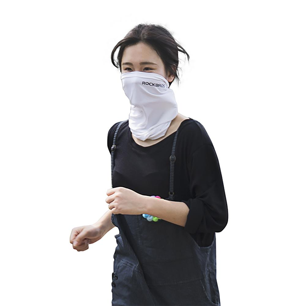 Cycling Half Face Mask Motorcycle Neck Warmer Riding Neck Gaiter Cooling Climbing Wrap Ice Silk Dust Sunlight Protection