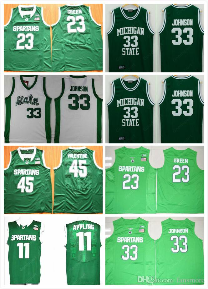 best service e3e10 8b688 Mens Michigan COLLEGE NCAA Stitched Valentine 45 Swingman 23 Draymond Green  33 Earvin JOHNSON Appling 11 Basketball jerseys