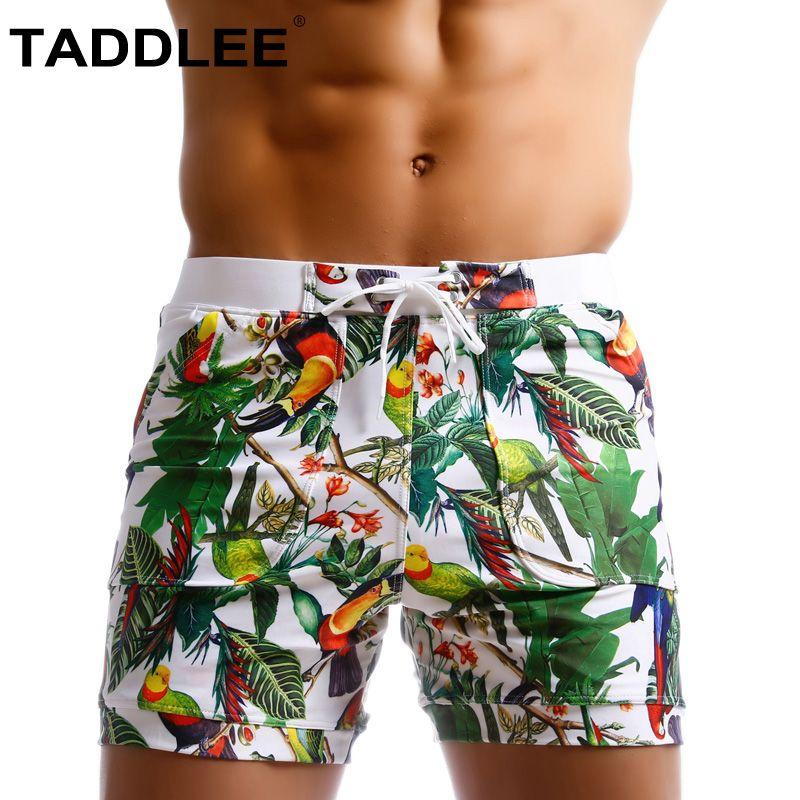 cffddd2abec4 Taddlee Marca Hombres Traje de baño Corte brasileño Swimsutis Hombre Sexy  Natación Boxers Tabla de surf Pantalones cortos de playa Troncos Gay ...