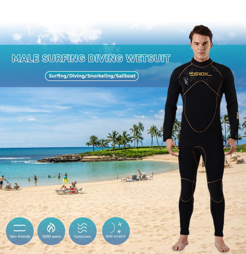 2ea0db7b30 2019 Scuba Diving Wetsuit Drysuits Men 5mm Snorkeling Suit Neoprene Warm  Winter Swimming Wetsuit Surfing Full Bodysuit Triathlon Wet Swimsuit From  ...