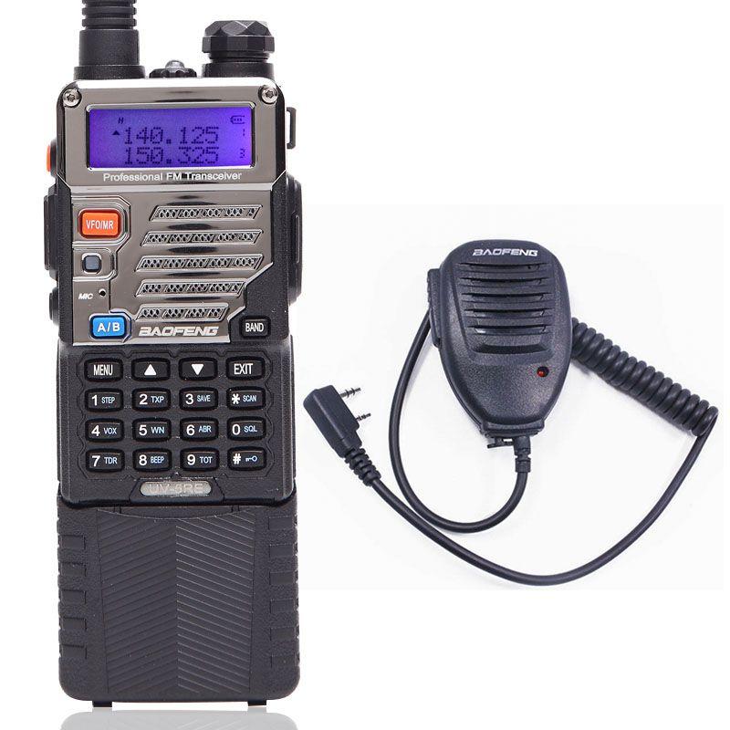 BAOFENG UV-5RE Walkie Talkie 8W high Power CB Ham Radio 3800mah Battery  10km long range VHF/UHF Dual Band Radio Speaker Mic