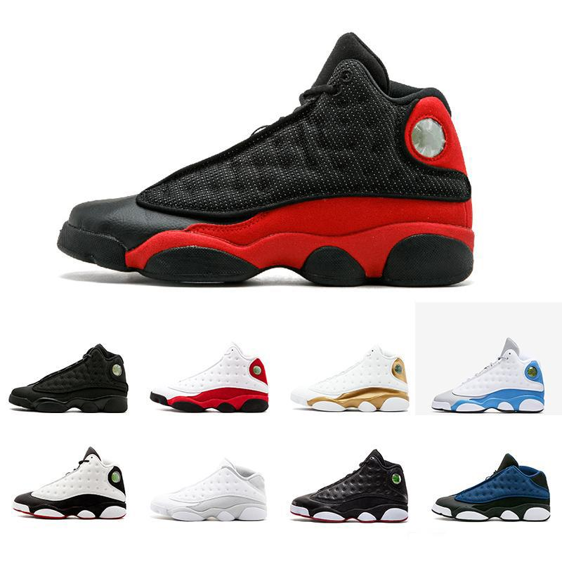 New arrive 13 13s Hyper Royal GS Italy Blue olive men basketball shoes 13s mens sports Sneaker Athletics Shoes size 41-47