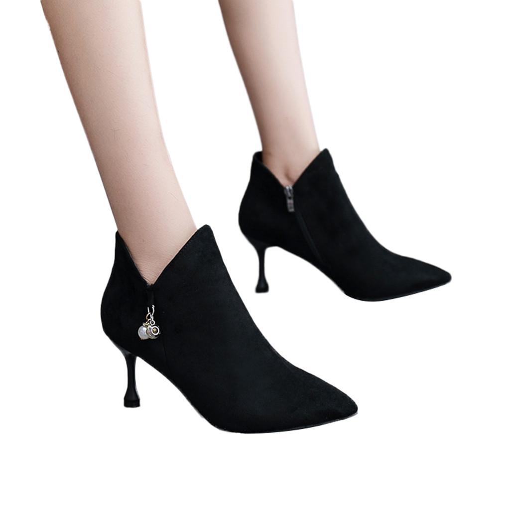 84b68d8e Compre Zapatos De Moda Para Mujer Arco Botines Estilete En Punta Friega  Botas Botas Scarpe Donna Elegante # E3 A $23.75 Del Hadfunn | DHgate.Com