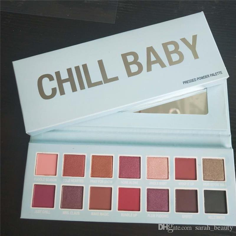 New Cmaadu cosmetics Eyes makeup Christmas collection CHILL BABY eyeshadow palette 14 colors eye shadow dhl free