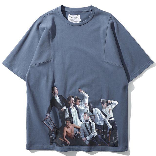 b4e50ec4f9713 Patchwork T Shirts Men Cotton Casual Streetwear Character 3d Print Hip Hop  Short Sleeve Summer Tops Tees Harajuku Tshirt Designs Shirts Interesting T  Shirt ...