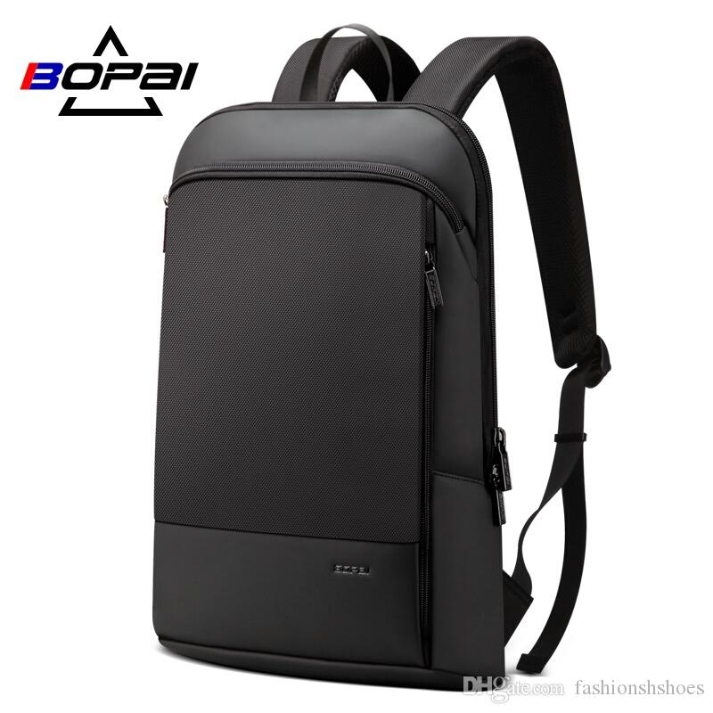 3e04865ce2e0 BOPAI Slim Laptop Backpack Men 15.6 Inch Office Work Men Backpack Business  Bag Unisex Black Ultralight Thin Back Pack  34718 One Strap Backpack  Backpacking ...