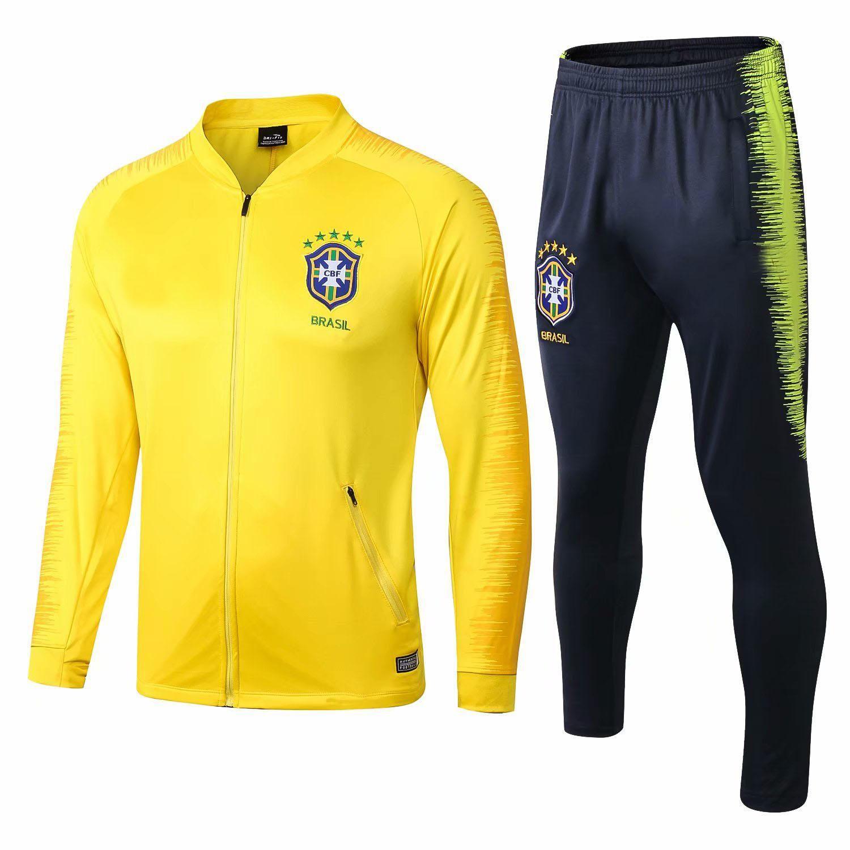 Compre NUEVA Copa Mundial Brasil 2018 Camiseta De Entrenamiento De Manga  Larga Fútbol Fútbol Camiseta Deportiva Ropa Deportiva Chandal Conjunto  Chándal ... 7eea01d70f04f