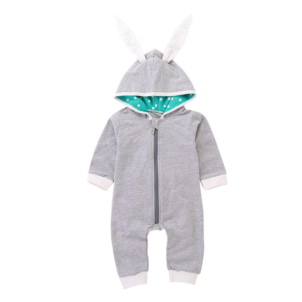 c5312bcba86b Mikrdoo Newborn Infant Baby Boy Girl Romper Clothes Rabbit Hooded ...