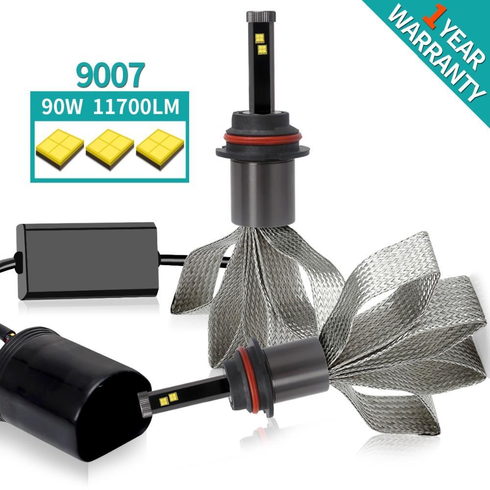 Green-L D2S led bulb h7 LED Car Lights 11700lm 90W H1 H3 H4 H11 DS2 880  9007 h4 24v Headlight HB4 Bulb copper cooling