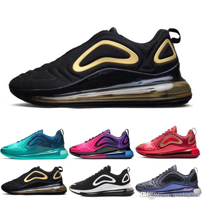 nike air max 720 720s 72c airmax Hombres Mujeres Zapatos Para Correr Northern Lights Noche Triple Negro Eclipse Total Cool Gris Metálico Plata