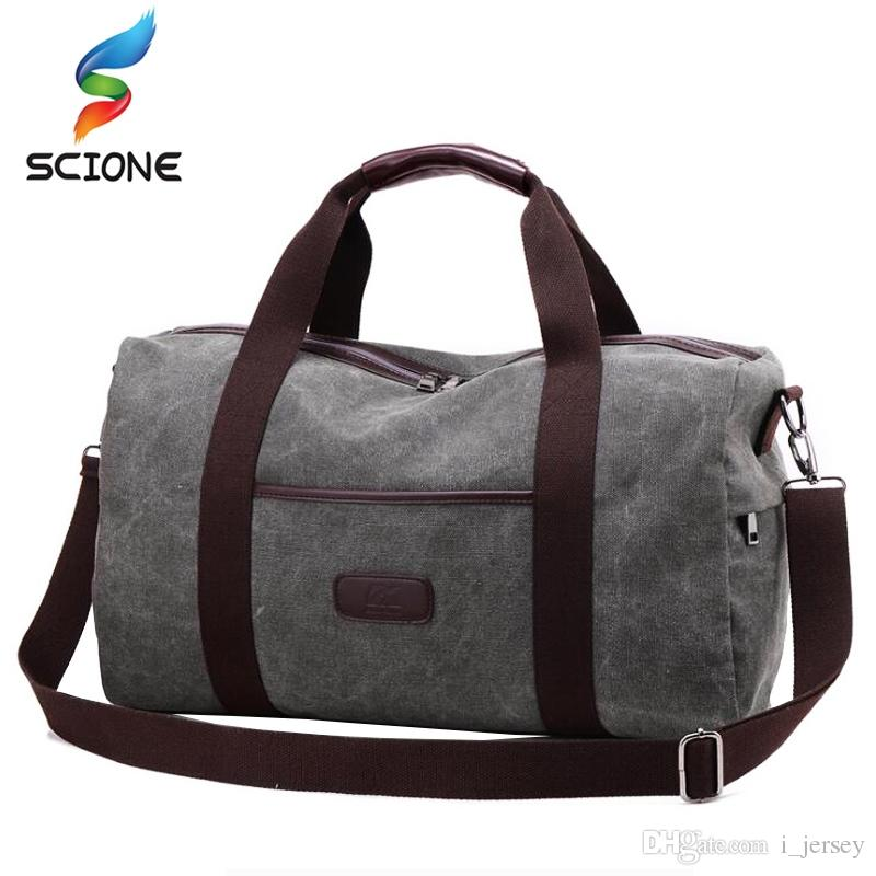 589becf77e0d 2019 Outdoor Canvas Gym Bags Travel Camping Sports Bag Men Women Fitness  Training Shoulder Handbag Large Capacity Duffles Bags  86743 From I jersey