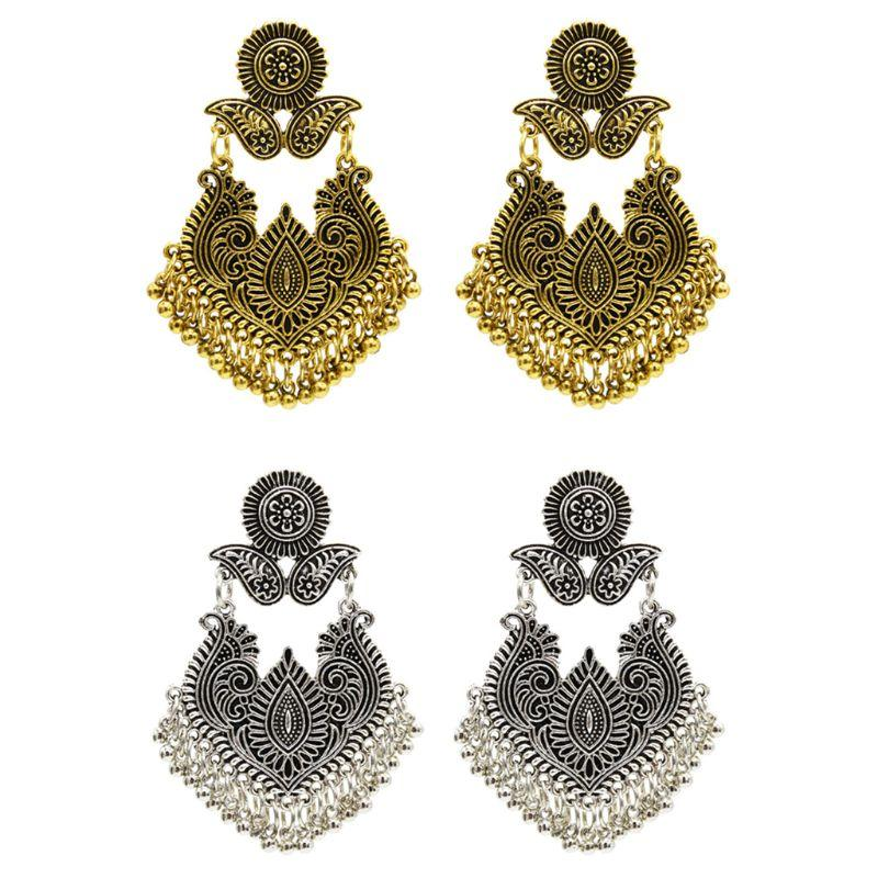 6d3578c57 2019 Ethnic Earrings Thailand India Style Vintage Bells Pendant Tassel  Exquisite Elegant Dangle Jewelry Women Party Cosplay From Linyicity, $33.6  | DHgate.