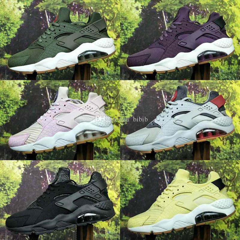 big sale 82378 e9a50 2019 New Color Huarache ID Custom Kids Running Shoes For Men Navy Blue Tan  Air Huaraches Sneakers Designer Huraches Brand Hurache Trainers Big Kids  Running ...
