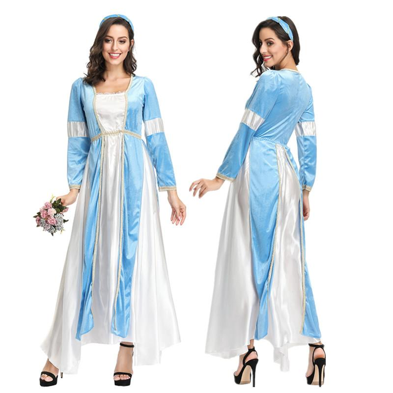 Halloween Women Sexy Greek Roman Lady Egyptian Cleopatra Costume Greek Goddess Cosplay Fancy Long Dress