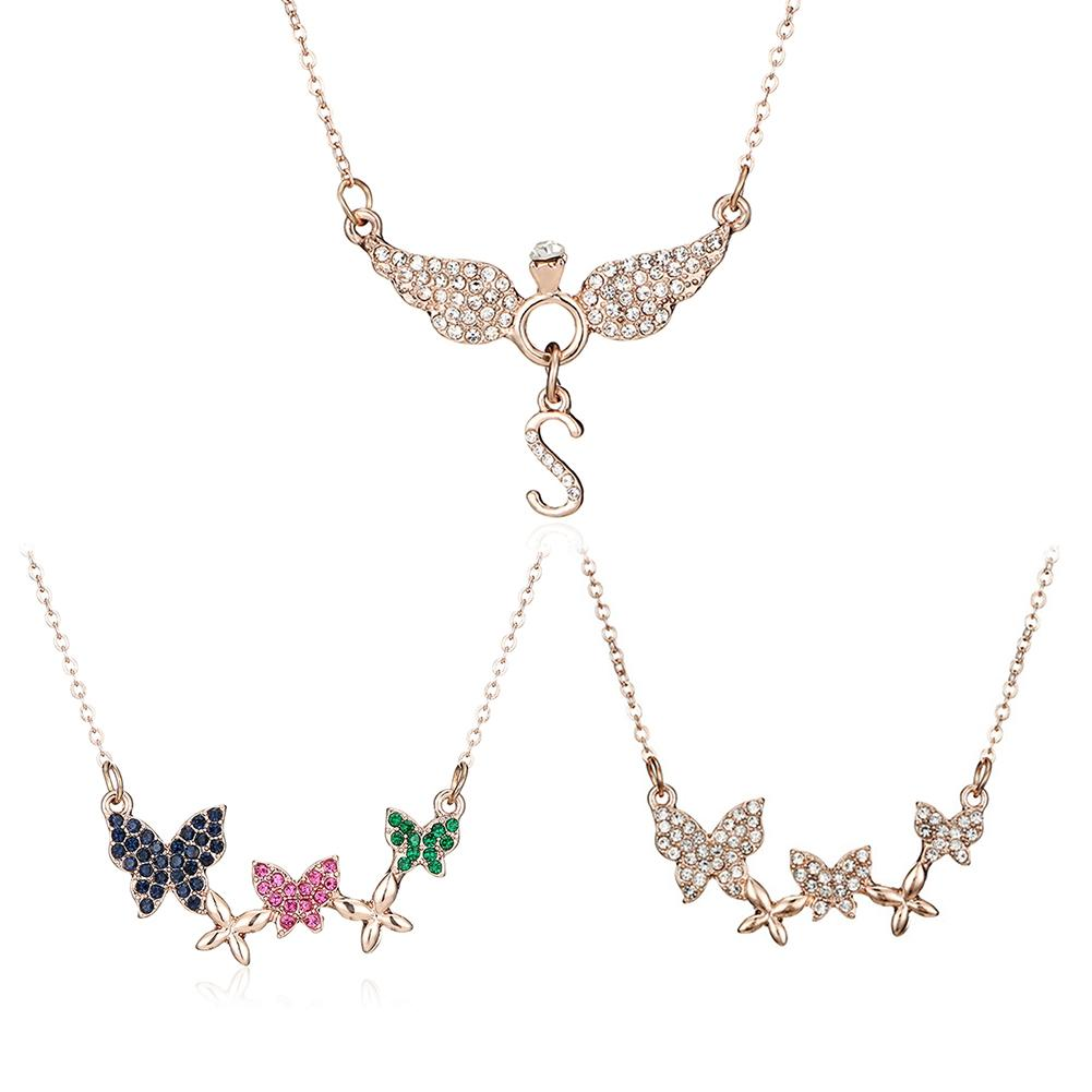5x Alloy Acrylic Butterfly Wings Angel Charms Pendants for Necklace Making