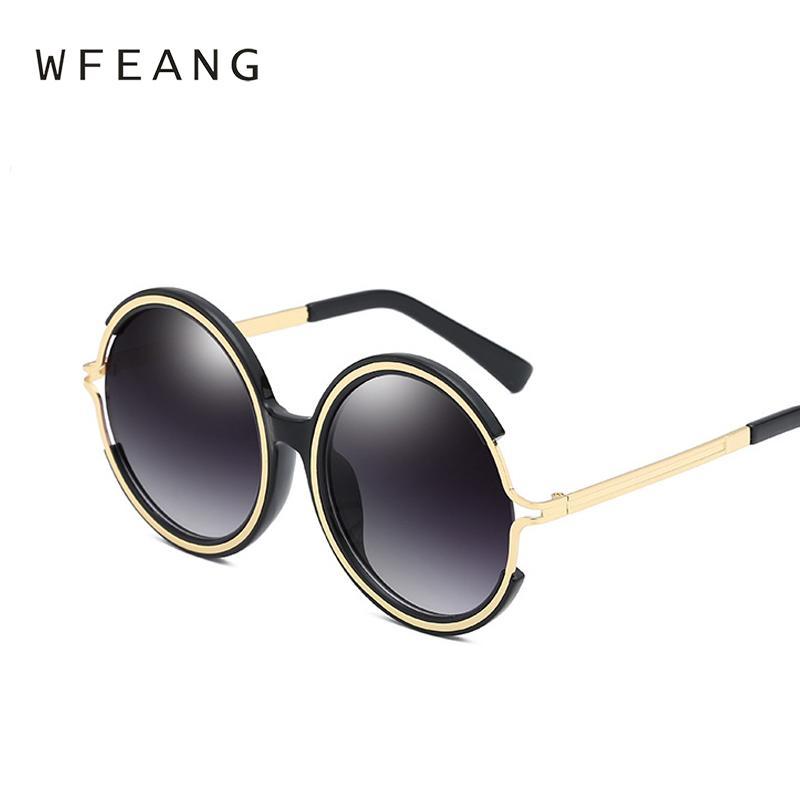 cc859669277 WFEANG Round Sunglasses Women Luxury Brand Vintage Ladies Shades Retro Sun  Glasses Female Oculos De Sol UV400 Online with  28.86 Piece on  Zehanjewelry s ...