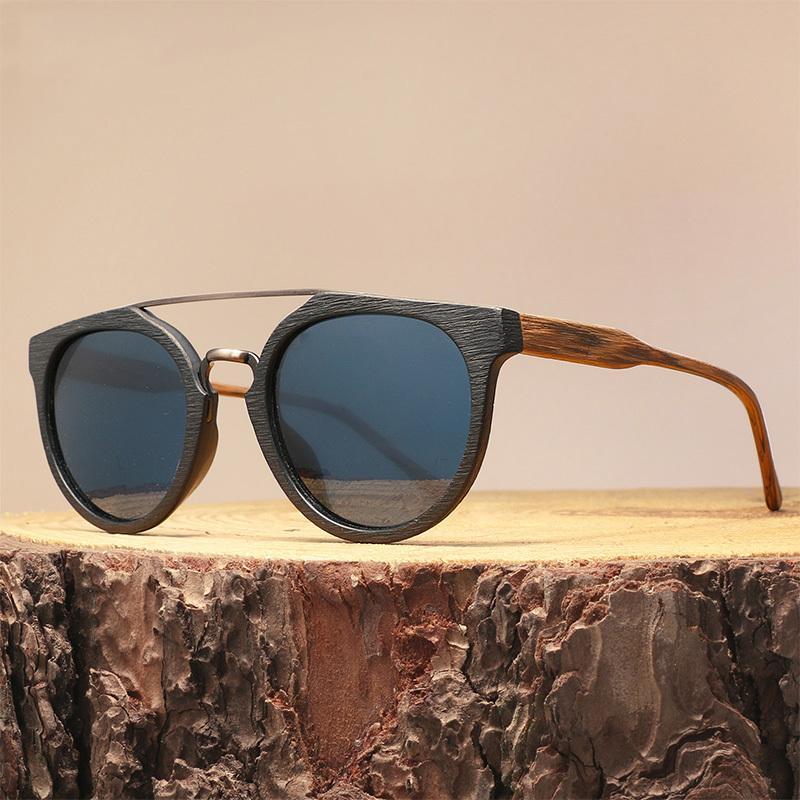 400991f887 Compre Gafas De Sol De Madera Del Acetato Del Vintage Para Los Hombres /  Las Mujeres, Lentes Polarizados De Alta Calidad Uv400 Classic Sun C19022501  A ...