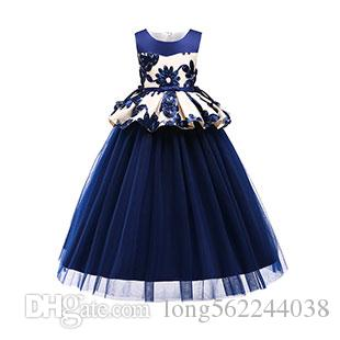 1e643fd7d Compre Moda Vestidos Congelados Vestidos De Estilo Occidental Bebés Niñas  Vestido Formal Falda Larga Vestido De Princesa Tutu De Flores A  123.62 Del  ...