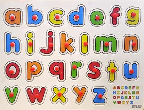 Toys Grip Wooden Toys Wooden Puzzle - Alphabet consists of 26 Ship from Turkey HB-001569759