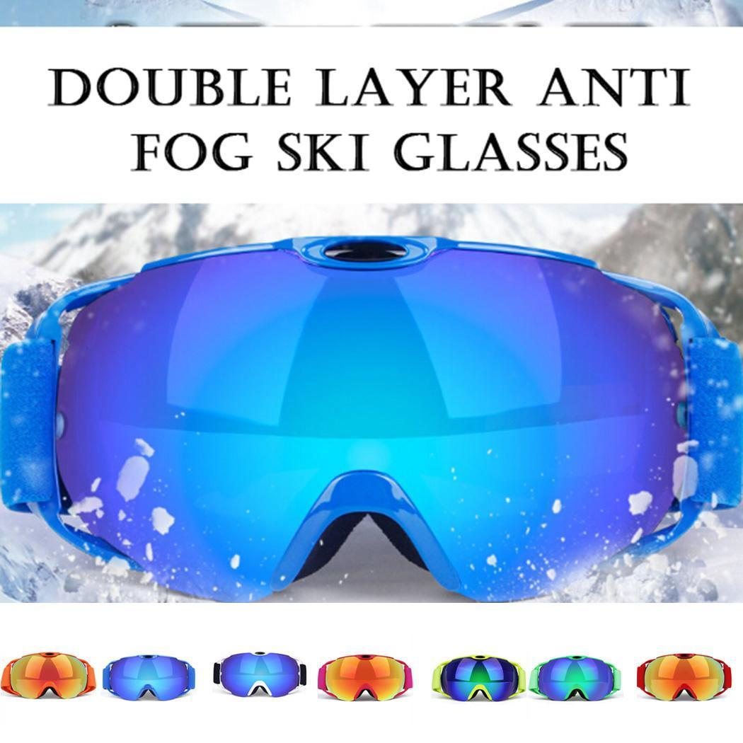 1ce3042904a Ski Goggles with Case Snowmobile Snowboard Skiing Glasses for Men Women Youth  Snow Outdoor Sports 100% UV Protection Anti-Fog Gl Skiing Eyewear Cheap  Skiing ...