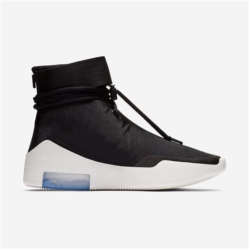 2b55aff04981 2018 Authentic Air Fear of God 1 Boots Light Bone Grey Black Zoom ...