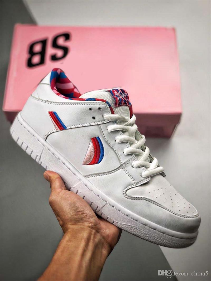 2019 New Released Originals Parra x SB Dunk Low CN4504-100 Casual Men Skateboard Shoes Authentic Sports Sneakers With Box