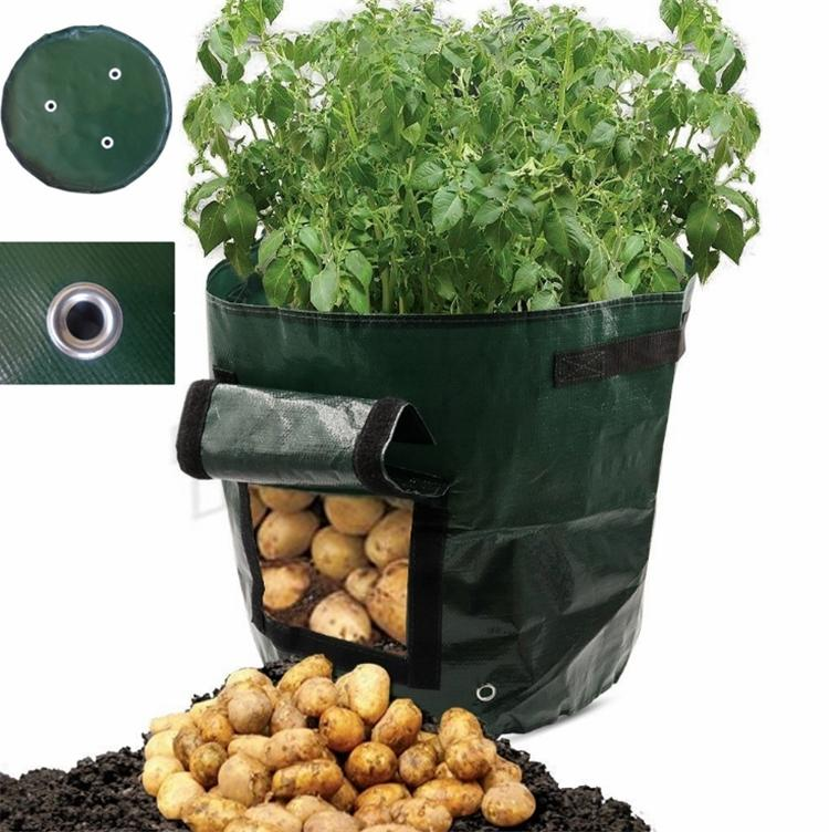 New 35*34cm Movable Grow Planter Bag Potato Cultivation Planting Garden Strawberry Pots Planters Outdoor Planting Grow Bag Planters I492
