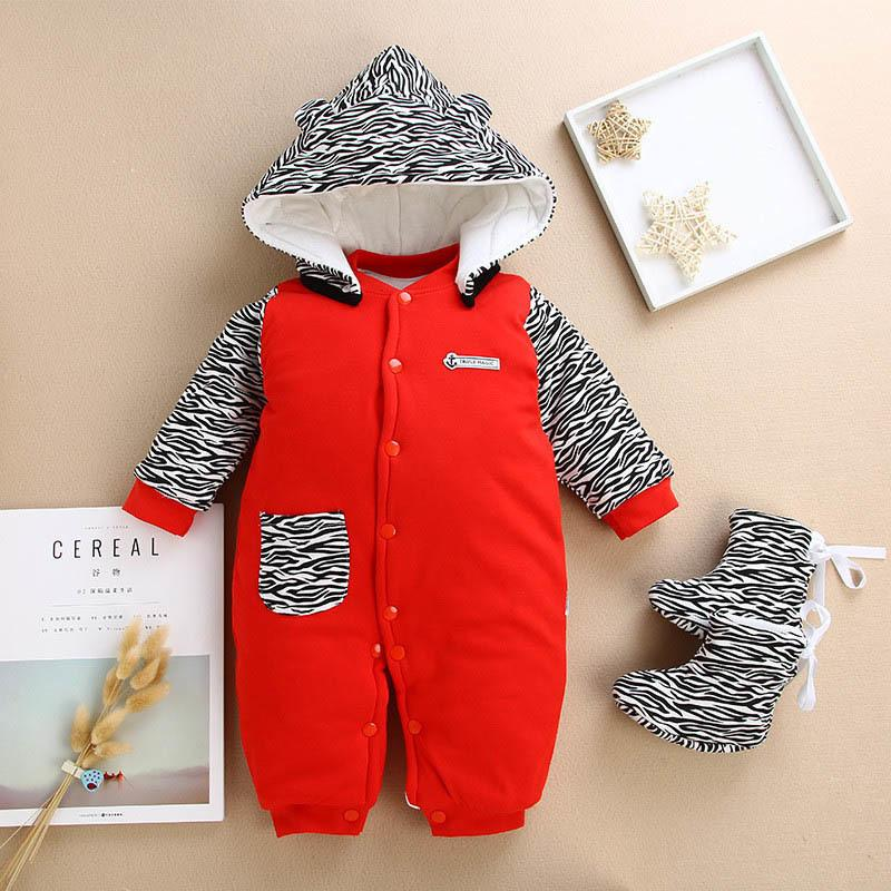 dba095fc1be0 Good Quality Winter Baby Rompers Cotton Baby Hooded Snowsuit ...