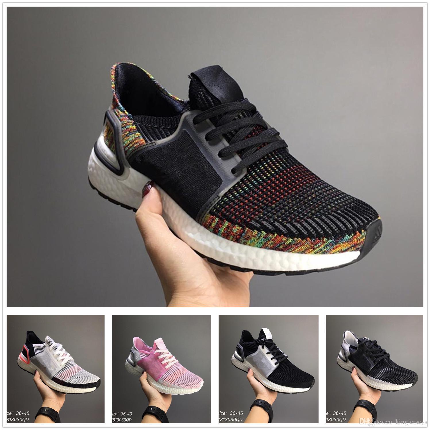 3924330aa5191 2019 New Top UltraBoost 19 Men Women Running Shoes Ultraboost 5.0 Laser Red  Dark Pixel Core Black Ultraboosts Trainer Sport Sneaker Size 36 45 From ...