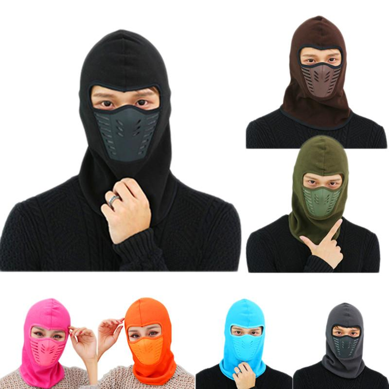 2019 Winter Full Face Warm Fleece Cycling Mask Anti Dust Windproof Ski Mask  Snowboard Hood Hiking Camping Bike Thermal Scarf Faceask From Gqinglang f14068d275f4