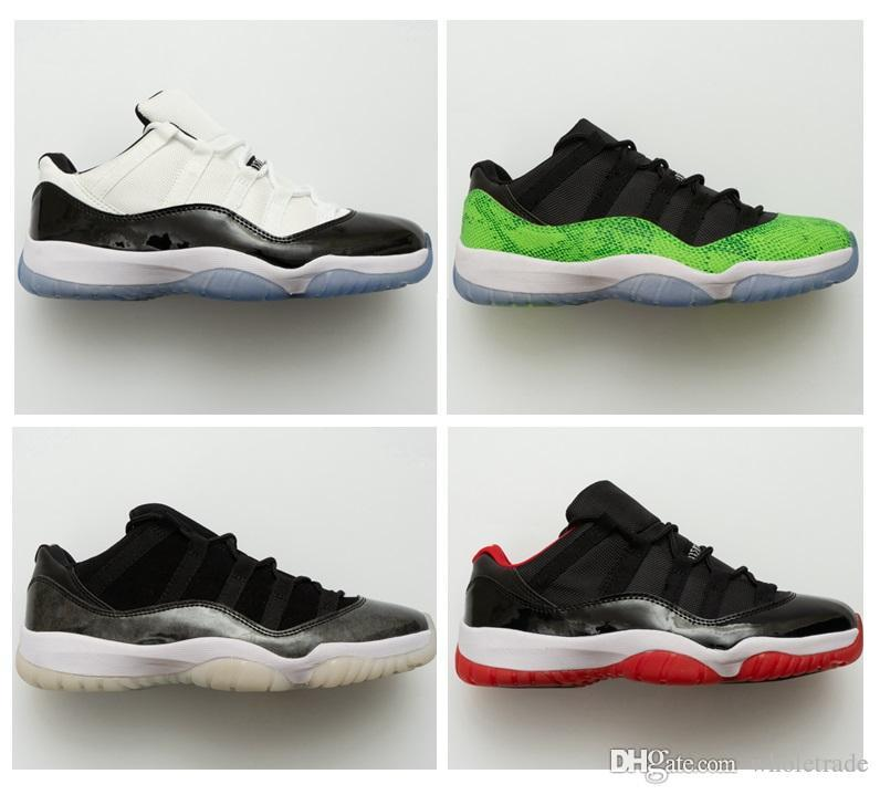 quality design 53e56 49579 Womens And Mens High Quality 11 Low Concord 2018 Bred Frost White UNC  Barons Basketball Shoes 11 Concord Low Sneakers For Sale