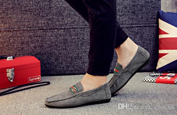 5814d1a51 Compre Sapatos Masculinos Inglaterra Tendência Casual Lazer Sapatos De  Couro Respirável Para O Sexo Masculino Sapatos Loafers Dos Homens Sapatos  Casuais ...