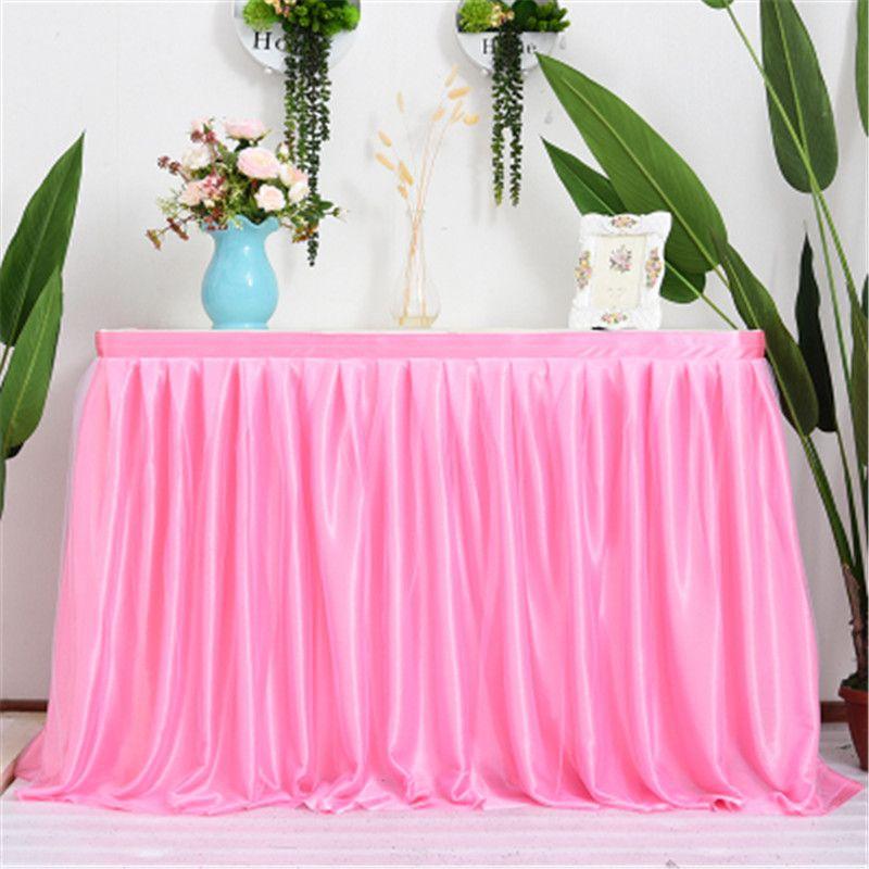 a1367af6d Multicolor tul tutu mesa falda vajilla para el banquete de boda cumpleaños  decoración de encaje cubierta de tabla de textiles para el hogar ...