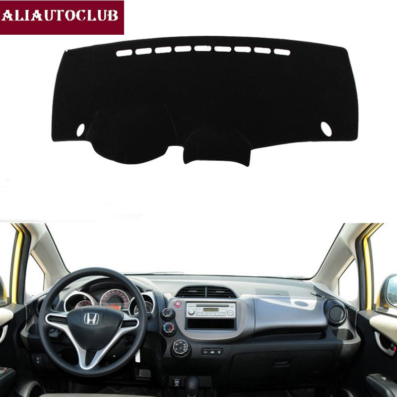 For Fit Jazz 2009-2013 Car Styling Covers Dashmat Dash Mat Sun Shade Dashboard Cover Capter 2010 2011 2012