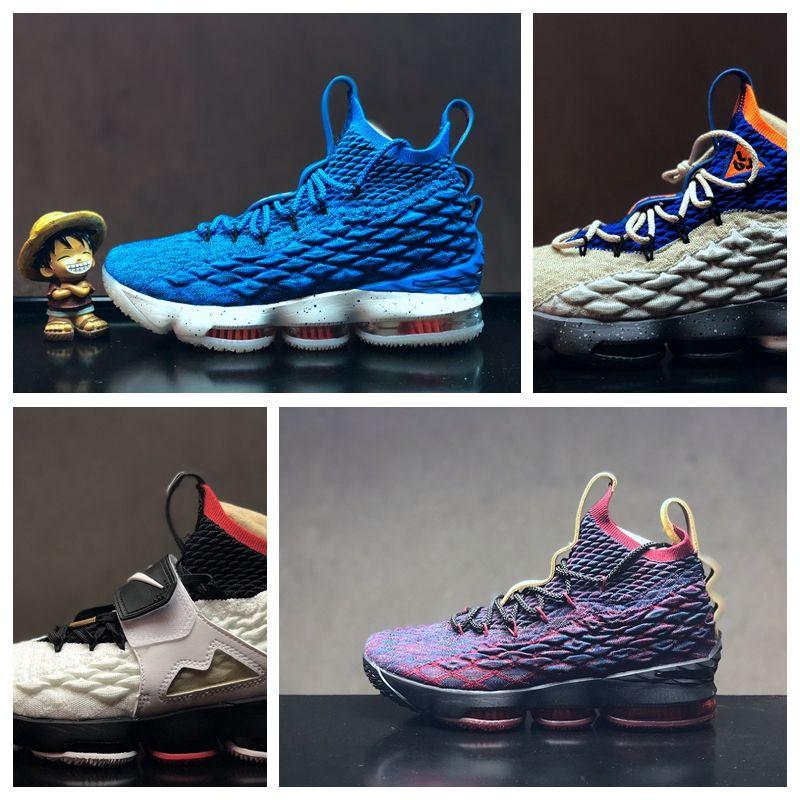 ad1b28b1c702 Acheter Nike Air Lebron James LBJ15 LBJ Pas Cher Hommes Femmes Sports Chaussures  De Plein Air 15 EP Pride Of Ohio 897648 003 001 Basketball Designer De Luxe  ...