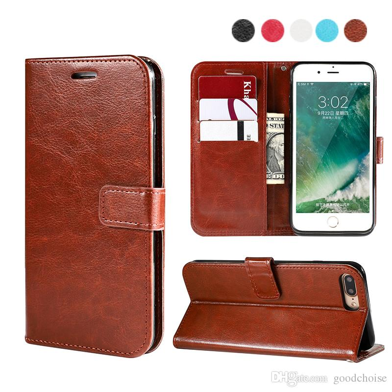 Flip wallet Phone Case For iphone xs xr x samsung s9 s10 plus Luxury PU Leather Back Case Cover with Credit Card Slots