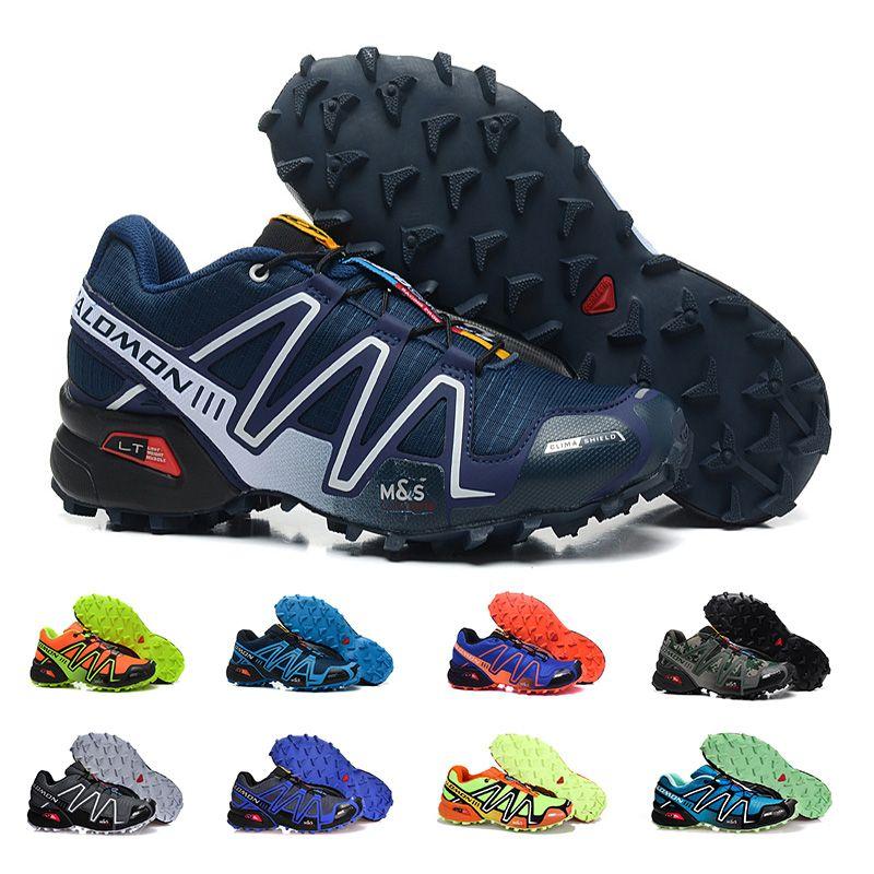 reputable site 389cc c7868 Acheter Nouveau Pas Cher Salomon Speed Cross 3 CS III Hommes Chaussures De  Course De Haute Qualité Noir Rouge Bleu Jaune En Plein Air Jogging Sport ...