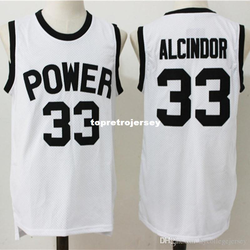 d2dfa2996559 2019 Cheap Custom Lew Alcindor Power High School Jersey Kareem Abdul Jabbar  Basketball Jersey Embroidery Stitches Customize Any Size And Name From  Qiuyi2018 ...
