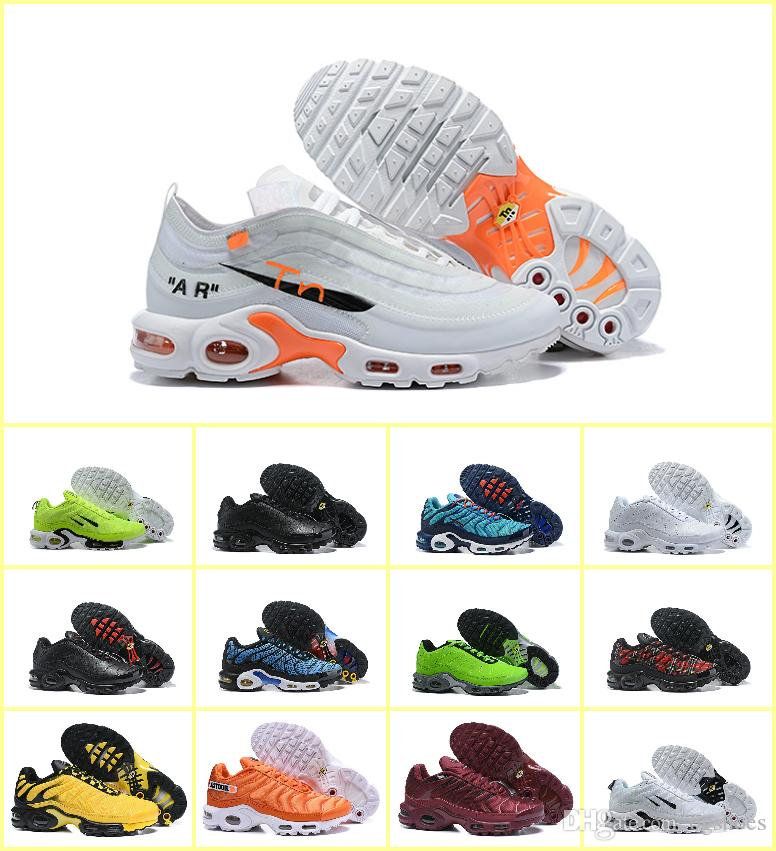 2019 New Off Plus Tn Mens Running Chaussures Air Tn Shoes White Black  Sports Maxes Trainers Luxury Designer Sneakers 270 OG Zapatos Hombre Womens  Running ... 19627b9f0