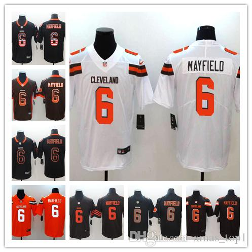 brand new 25a21 73d75 2019 New Mens 6 Brian Hoyer Jersey Cleveland Browns Football Jersey 100%  Stitched Embroidery Browns Brian Hoyer Color Rush Football Shirts