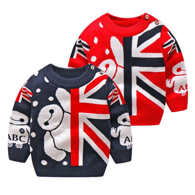 20e50d3db BibiCola Boys Girls Baby Spring Autumn Sweater Children Casual ...