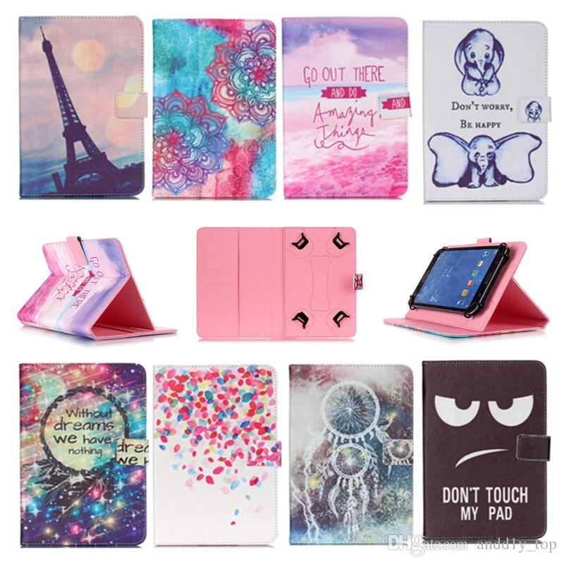 Printed Universal 10 inch Tablet Case for Lenovo moto tab Cases kickstand PU Leather Flip Cover Case for Lenovo Yoga Tab 3 Plus