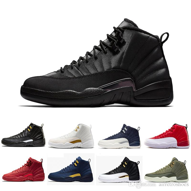 cheap for discount 34e3d a39ef Winterized 12 Gym Red 12s men basketball shoes Michigan WINGS bulls UNC Flu  Game the master black white taxi Sport trainer sneakers