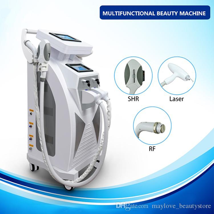 Portable diode OPT SHR hair removal machine wrinkle removal laser treatment RF machine CE approved Nd yag q-switch laser for tattoo removal
