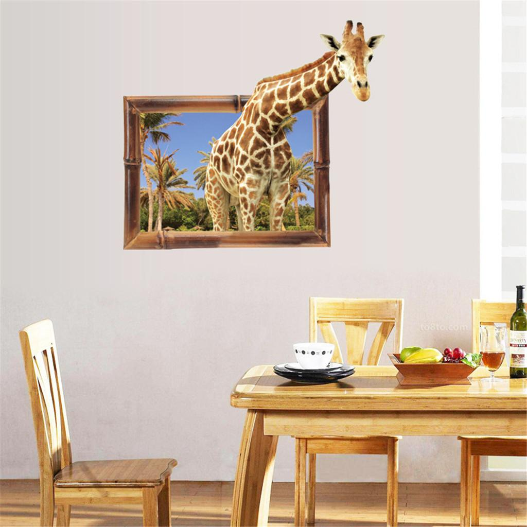 ISHOWTIENDA 3D Diy Funny Cartoon Wall Stickers Removable Kids ...