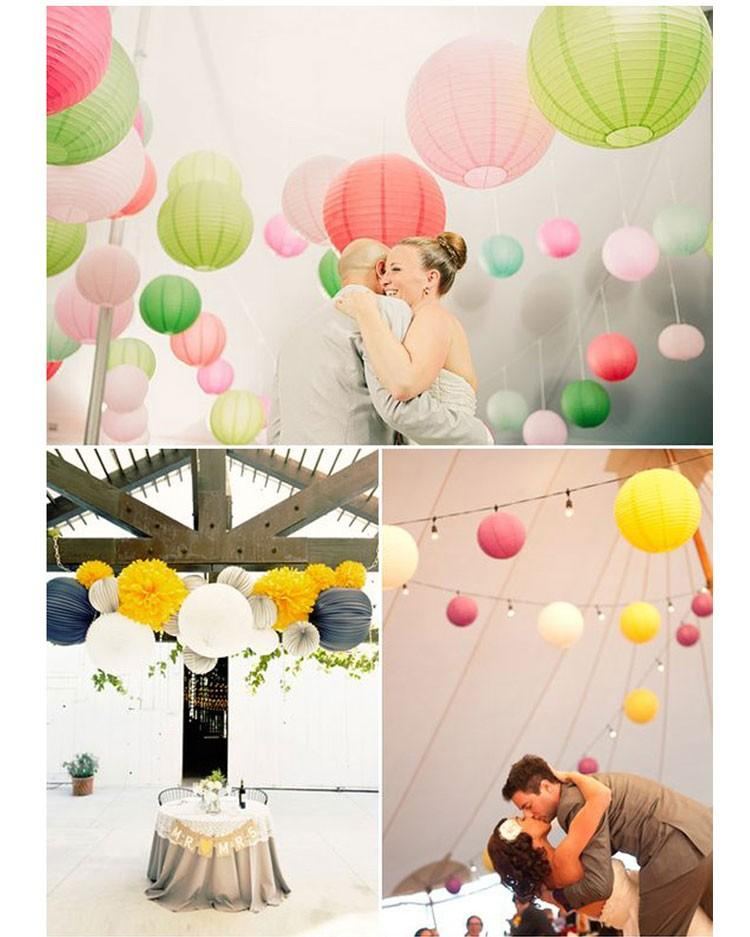 Zilue Round Chinese Paper Lantern Birthday Wedding Party decor gift craft DIY lampion white hanging lantern ball party decor
