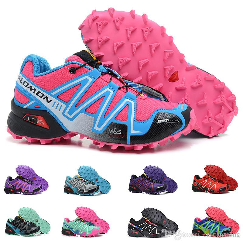 9d75be9fbe37 2019 New Wholesale Salomon Speed Cross 3 CS III Women Running Shoes Cheap  Black Red Blue Outdoor Jogging Walking Sports Athletic Shoe From  Caijianxiong